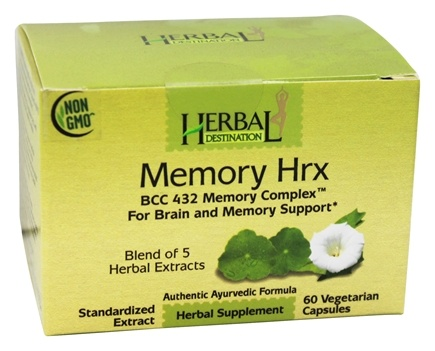 DROPPED: Herbal Destination - Memory Hrx BCC 432 Memory Complex 1050 mg. - 60 Vegetarian Capsules