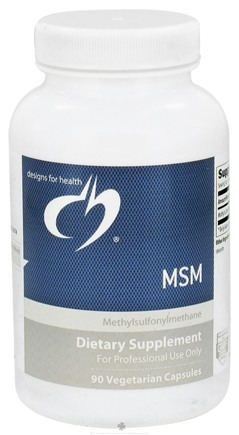 DROPPED: Designs For Health - MSM 1000 mg. - 90 Vegetarian Capsules CLEARANCE PRICED