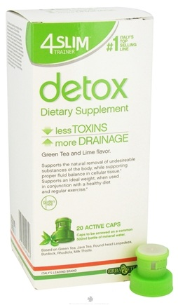 DROPPED: Erba Vita - 4 Slim Trainer Detox Green Tea and Lime Flavor - 20 Active Caps
