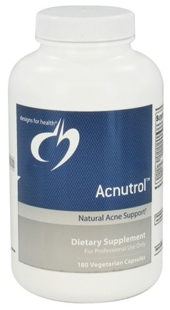 DROPPED: Designs For Health - Acnutrol - 180 Vegetarian Capsules CLEARANCE PRICED