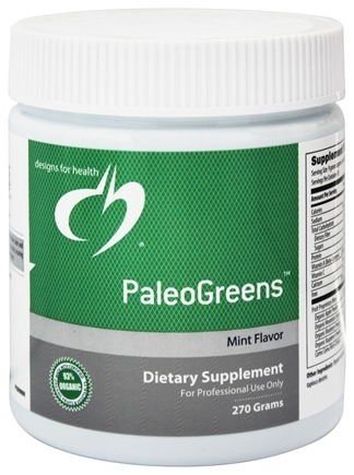 DROPPED: Designs For Health - PaleoGreens Mint Flavor - 270 Grams