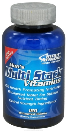 DROPPED: Inner Armour - Men's Multi Stack Vitamins - 180 Bi-Layered Tablets - CLEARANCE PRICED