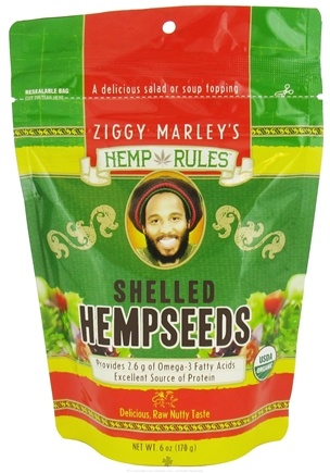 DROPPED: Ziggy Marley Organics - Hemp Rules Shelled Hempseeds - 6 oz.