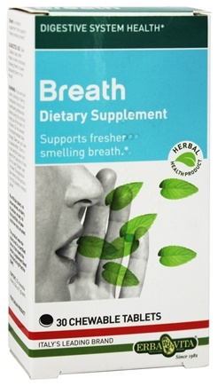 DROPPED: Erba Vita - Breath - 30 Chewable Tablets CLEARANCE PRICED