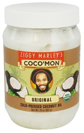 DROPPED: Ziggy Marley Organics - Coco'Mon Cold-Pressed Coconut Oil Original - 29 oz. CLEARANCE PRICED