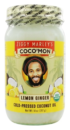 Ziggy Marley Organics - Coco'Mon Cold-Pressed Coconut Oil Lemon Ginger - 14 oz.