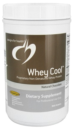 Designs For Health - Whey Cool Natural Chocolate Flavor - 900 Grams