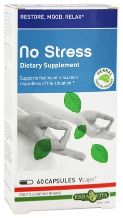 DROPPED: Erba Vita - No Stress - 60 Vegetarian Capsules CLEARANCE PRICED