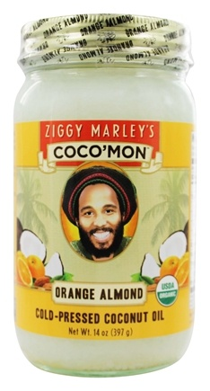 Ziggy Marley Organics - Coco'Mon Cold-Pressed Coconut Oil Orange Almond - 14 oz.