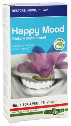 Erba Vita - Happy Mood - 60 Vegetarian Capsules CLEARANCE PRICED