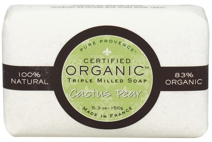 DROPPED: Pure Provence - Triple Milled Soap Certified Organic Cactus Pear - 5.3 oz. CLEARANCE PRICED