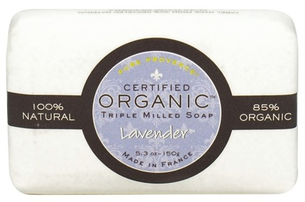DROPPED: Pure Provence - Triple Milled Soap Certified Organic Lavender - 5.3 oz.
