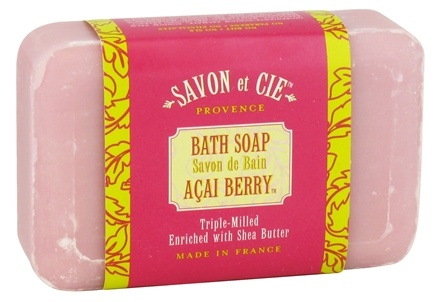 DROPPED: Savon et Cie - Triple Milled Bath Soap Acai Berry - 7 oz. CLEARANCE PRICED