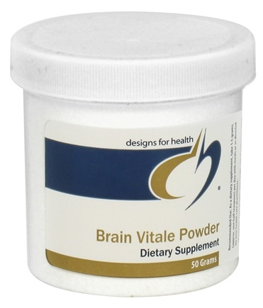 DROPPED: Designs For Health - Brain Vitale Powder - 50 Grams CLEARANCE PRICED