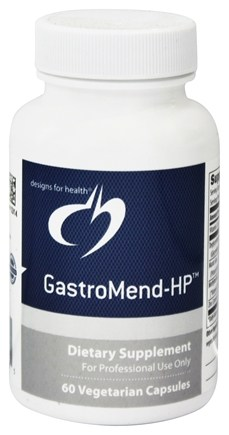 DROPPED: Designs For Health - GastroMend-HP - 60 Vegetarian Capsules