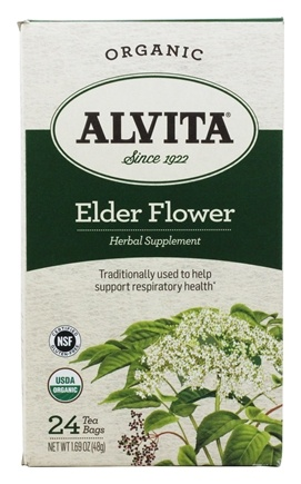 DROPPED: Alvita - Organic Elder Flower Tea - 24 Tea Bags CLEARANCE PRICED