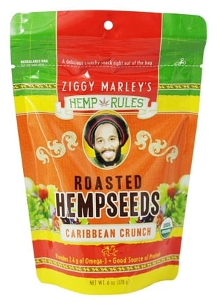 DROPPED: Ziggy Marley Organics - Hemp Rules Roasted Hempseeds Caribbean Crunch - 6 oz.