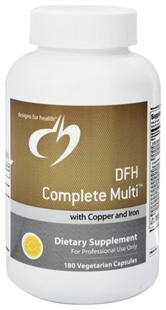 DROPPED: Designs For Health - DFH Complete Multi with Copper and Iron - 180 Vegetarian Capsules