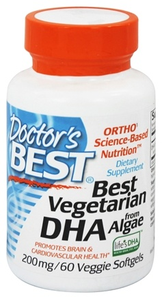 DROPPED: Doctor's Best - Best Vegetarian DHA from Algae 200 mg. - 60 Vegetarian Softgels