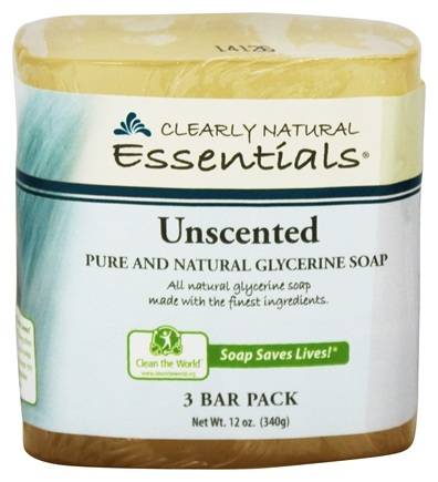 Clearly Natural - Glycerine Soap Bar Unscented - 3 Pack