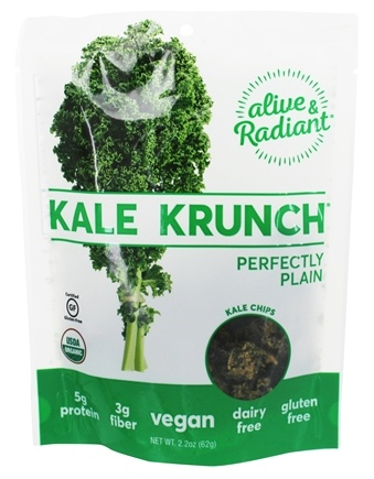 DROPPED: Alive & Radiant Foods - Kale Krunch Perfectly Plain - 2.2 oz. CLEARANCE PRICED