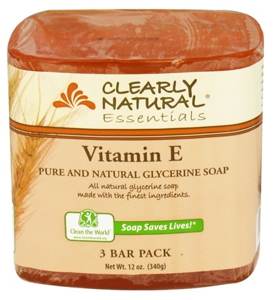 Clearly Natural - Glycerine Soap Bar Vitamin E - 3 Pack