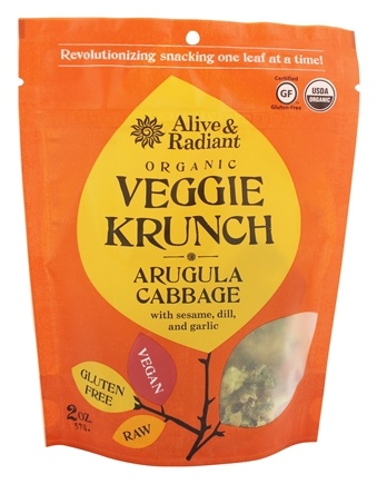 DROPPED: Alive & Radiant Foods - Organic Veggie Krunch Arugula Cabbage - 2 oz.