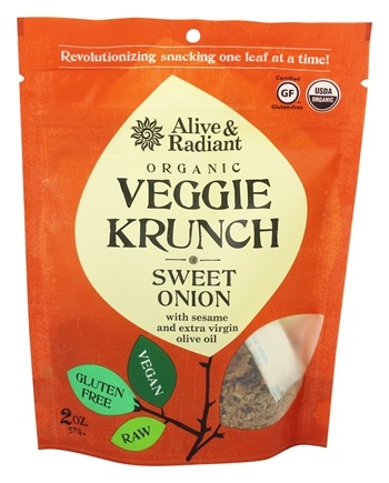 DROPPED: Alive & Radiant Foods - Organic Veggie Krunch Sweet Onion - 2 oz.
