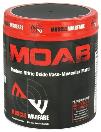 DROPPED: Muscle Warfare - MOAB Modern Nitric Oxide Vaso-Muscular Matrix - 200 Capsules
