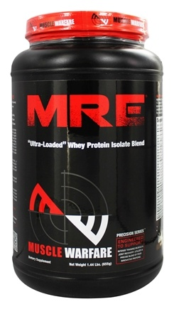 DROPPED: Muscle Warfare - MRE Ultra-Loaded Whey Protein Isolate Blend Vanilla 25 Servings - 1.44 lbs. CLEARANCE PRICED