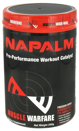 DROPPED: Muscle Warfare - Napalm Pre-Performance Workout Catalyst Grape Splash 45 Servings - 250 Grams