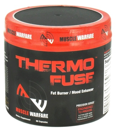 DROPPED: Muscle Warfare - ThermoFuse Fat Burner Mood Enhancer - 90 Capsules