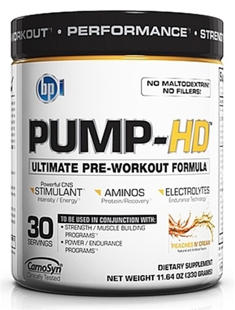 DROPPED: BPI Sports - Pump-HD Pre-Workout Muscle Builder Peaches N' Cream 30 Servings - 11.64 oz. CLEARANCE PRICED