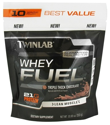 DROPPED: Twinlab - Whey Fuel Pouch Triple Thick Chocolate - 10.93 oz. CLEARANCE PRICED