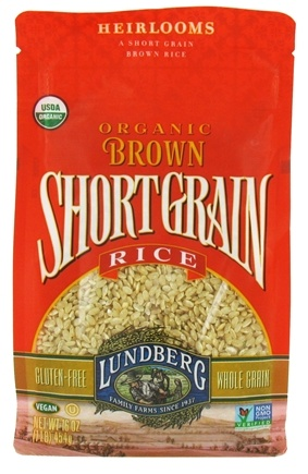 DROPPED: Lundberg - Organic Short Grain Brown Rice - 16 oz. CLEARANCE PRICED