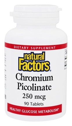 DROPPED: Natural Factors - Chromium Picolinate 250 mcg. - 90 Tablets CLEARANCE PRICED