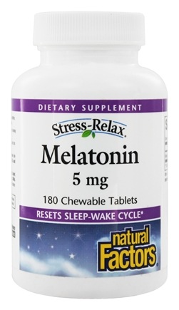 Natural Factors - Stress-Relax Melatonin 5 mg. - 180 Chewable Tablets