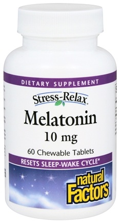 DROPPED: Natural Factors - Stress-Relax Melatonin 10 mg. - 60 Chewable Tablets