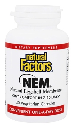 Natural Factors - NEM Natural Eggshell Membrane 500 mg. - 30 Vegetarian Capsules