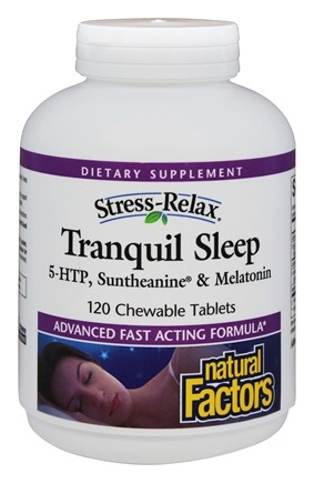 Natural Factors - Stress-Relax Tranquil Sleep - 120 Chewable Tablets
