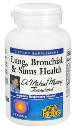 DROPPED: Natural Factors - Dr. Murray's Lung, Bronchial & Sinus Health - 45 Tablets CLEARANCE PRICED