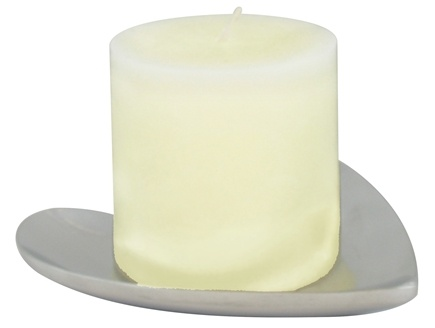 DROPPED: Triloka - Aluminum Candle Plate Heart - 5 in. CLEARANCE PRICED
