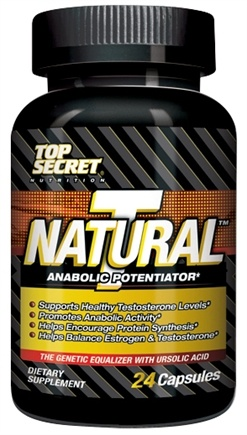 DROPPED: Top Secret Nutrition - Natural T Test Booster Anabolic Potentiator Trial Size - 24 Capsules CLEARANCE PRICED