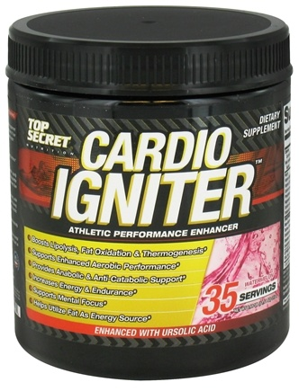 DROPPED: Top Secret Nutrition - Cardio Igniter Athletic Performance Enhancer Watermelon - 35 Servings - 11.11 oz.