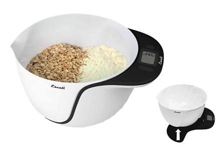 DROPPED: Escali - Taso Mixing Bowl Digital Scale MB115BL Blackberry - CLEARANCE PRICED
