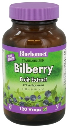 DROPPED: Bluebonnet Nutrition - Standardized Bilberry Fruit Extract 80 mg. - 120 Vegetarian Capsules