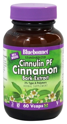 Bluebonnet Nutrition - Standardized Cinnulin PF Cinnamon Bark Extract 300 mg. - 60 Vegetarian Capsules
