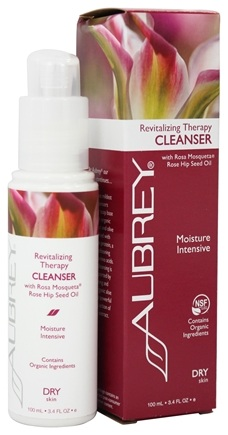 Aubrey Organics - Revitalizing Therapy Cleanser with Rosa Mosqueta Rose Hip Seed Oil - 3.4 oz. (Formerly Seaware Facial Cleansing Cream)
