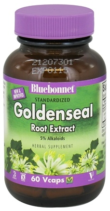 DROPPED: Bluebonnet Nutrition - Standardized Goldenseal Root Extract 250 mg. - 60 Vegetarian Capsules CLEARANCE PRICED