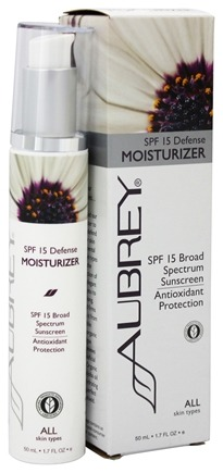 Aubrey Organics - Defense Moisturizer 15 SPF - 1.7 oz. (Formerly Green Tea & Ginkgo Moisturizer)